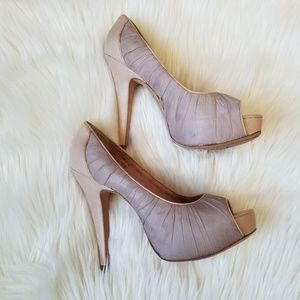 Vince Camuto Peep toe heels. Size 7B